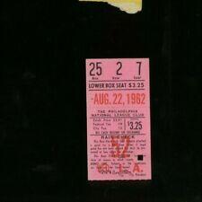 8-22-1962 Los Angeles Dodgers @ Philadelphia Phillies Baseball Ticket
