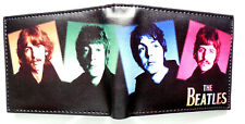 The Beatles Band Lennon Mccartney Wallet 2 card slot 2 bill sections window