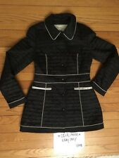 Laundry By Design Women's Black White Quilted Coat 🌞