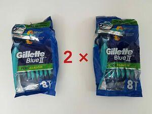 New GILLETTE BLUE 2 PLUS SLALOM MEN'S  RAZOR MENS SHAVING BLADE SHAVE BARBOR MAN