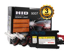 HID Hi Lo Dual Beam Head Light 55W Slim Xenon Kit - 9007 HB5 10000K 10K Blue MH
