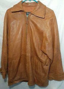 Saks Fifth Avenue Exclusive Brown Leather Jacket-La Nouvelle Renaissance Sz: M