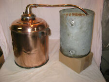 Awesome Antique Signed Anaconda Copper Whiskey Moonshine Still W/ Coil Bucket