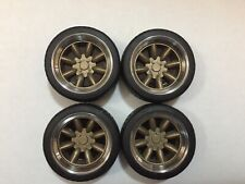 "1/18 scale Modified Tuning REAL ALUMINIUM 15"" SUPERLITE WHEELS in GOLD"