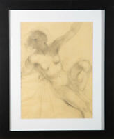 Alfred Kingsley Lawrence RA (1893-1975) - Charcoal Drawing, Nude Study