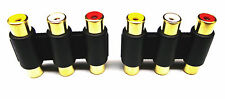 From OZ Quality 2PC 3 RCA Female to Female Same AV Inline Adaptor Connector +FP