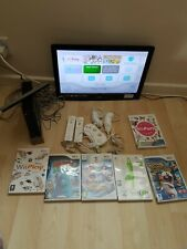 NINTENDO WII CONSOLE WITH WII REMOTE & NUNCHUCK and games