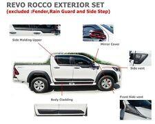 Fit Toyota Hilux Revo Rocco 4Dr 2018-2019 Exterior Cover Trim Set Matte Black