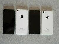Faulty Apple white iPhone 5c - For parts or not working - For Parts Only