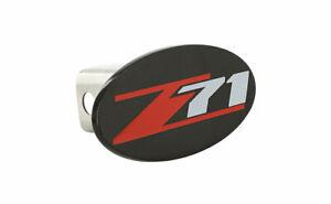 Chevrolet Z71 wordmark Black Finish Full Metal Hitch Cover Plug