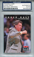 Chuck Daly Autographed 1992 Skybox Card (PSA)