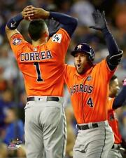 "2017 World Series GEORGE SPRINGER & CARLOS CORREA ""Game-7 HR"" Astros 8x10 photo"