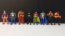 """Mattel DC Batman Unlimited 3.75"""" Action Figure Lot of 8 Excellent Condition"""