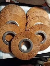 """New listing 6"""" All Nylon Wire-like Brush Wheels (9-Pc) 1/2"""" thick w/2"""" arbor"""