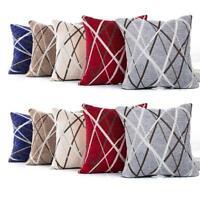 AU Stylish Simplicity Polyester Cushion Cover Sofa Throw Pillow Case Home Decor