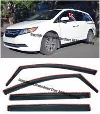 For 11-17 Honda Odyssey IN CHANNEL Smoke Tinted Side Window Visors Rain Guards
