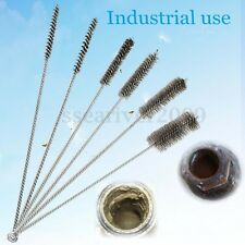 "6pc 16"" LONG STEEL WIRE ROUND TUBE GUN CLEANING BRUSHES 3/8""-1-1/2"" BRUSH BOTTLE"