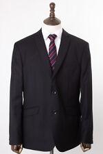 Men's Black Suit Pierre Cardin Tailored Fit Herringbone 42R W36 L31