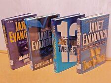 Lot 4 Janet Evanovich HC Book Dangerous/Curious Minds/Twelve Sharp/Turbo 23 1st/