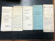 Lot of 5 antique Canadian Land Deeds Huron County Goderich, Lucknow early 1900s