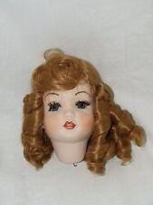 SFBJ Paris Bisque Doll Head Repro Curled Brown Hair 247 Mold D 13 S F B J 17854