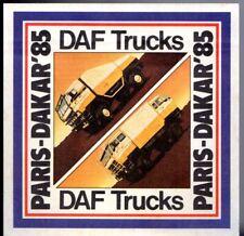 DAF CAMIONS PARIS-DAKAR 1985 marché du Royaume-Uni Autocollant