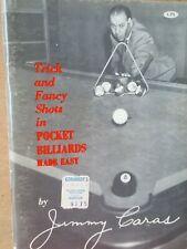 Vintage Signed Trick & Fancy Shots in Pocket Billiards Made Easy Jimmy Caras