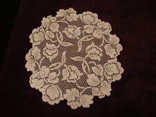 New Ivory lace Dutch Garden design  Doily 14 round  Set of 2