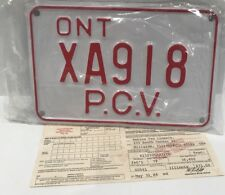 Vintage 1984 Ontario School License Plate Canada Public Vehicle Bus PCV NEW