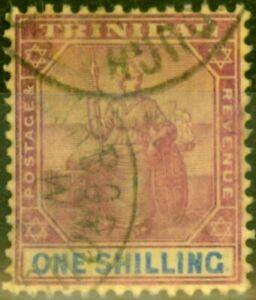 Trinidad 1906 1s Purple & Blue-Golden Yellow SG142 Fine Used