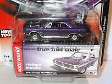 AUTO WORLD PLUM CRAZY PURPLE 1971 DODGE DART SWINGER R5B PREMIUM VINTAGE MUSCLE