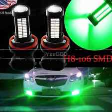 2pcs H11 H8 Green 106SMD Auto LED Bulbs  For Car truck Fog Lights Lamp