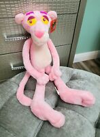 Vintage 1999 HUGE PINK PANTHER posable plush Stuffed Animal Color of Cool NEW