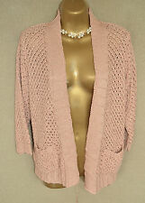 OASIS Lattice pattern coral cardigan with 3/4 sleeves size small