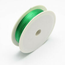 Iron Wire Spring Green 1Roll 0.5mm approx. 7m/roll Steel Wire Cable Making DIY