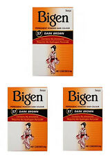3 x  Bigen Hair Colour Permanent Powder Hair Colour - No 57 Dark Brown(3 Packs)