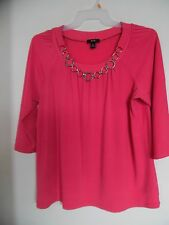 AGB  Pink Scoop Neck Tunic Shirt Top Blouse Sz XL