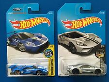 2017 Hot Wheels 2016 FORD GT RACER & 2017 FORD GT COUPE combo - mint on cards!