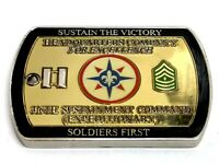316th Sustainment Command Iraqi Freedom Dog Tag Style Challenge Coin