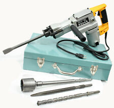 1800W Electric Rotary Hammer Drill & Demolition Mode 500Bmp w/ Core Bit Hole Saw