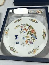Aynsley Cottage Garden Cake Plate With Matching Knife