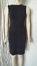 Wolford black&grey geometric sleeveless bodycon pencil fatal fitted dress
