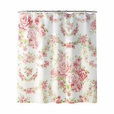 Rose Flower Shower Curtain, Pink Shower Curtain Waterproof Shower Curtains with