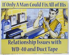 Man Fixes His Problems with WD40 and Duct Tape Metal Sing