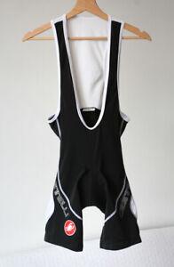 Castelli Italy Kiss Air Padded Cycling Bib Shorts Black White Men's Bibshorts M