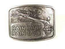 Vintage Rainbird Lluvia Pistola Tono de Plata Hebilla de Cinturón 72816