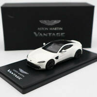 New 1:43 Scale White ASTON MARTIN VANTAGE Diecast Alloy Car Model Collection