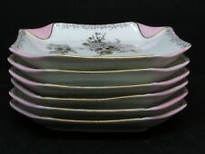 Haviland Fleur Saxe Ice Cream Set - Platter & Six Plates - Napkinfold