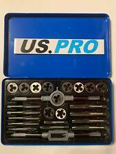 US PRO 24pc TAP & DIE SET UNC UNF NPT Screw Bolt Thread Repair Tools  NEW 2621