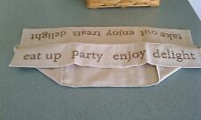 Longaberger fabric liner in embroidered Flax for stationary handle cake basket